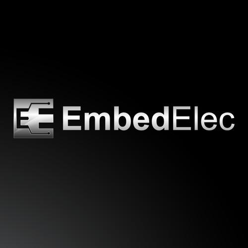 Create a striking, art deco logo for a modern electronic design company