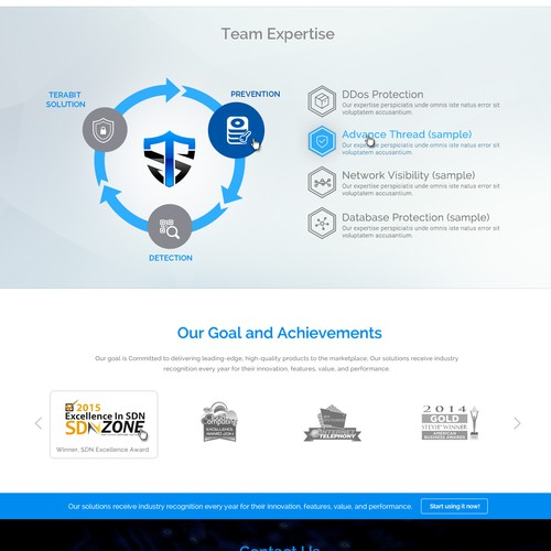 Terabit Security -  Web site design for the new product company