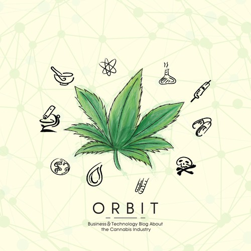 """Illustration concept for """"Orbit"""" Business and Technology"""