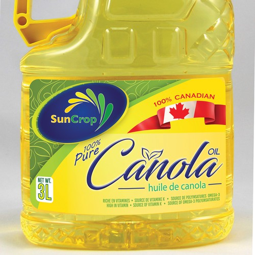 Packaging Label for Canola Oil