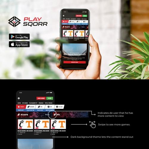 Website mobile redesign of betting plataform.