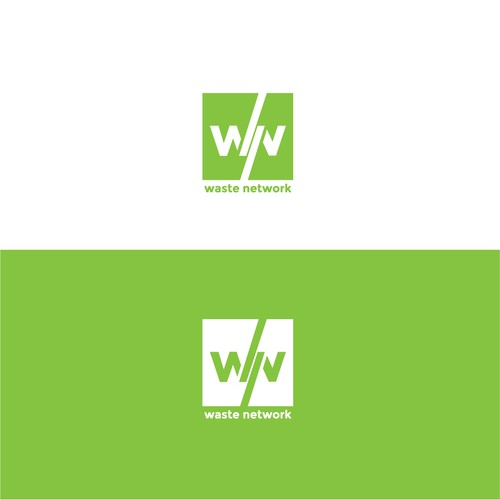 Logo concept for a waste solutions company