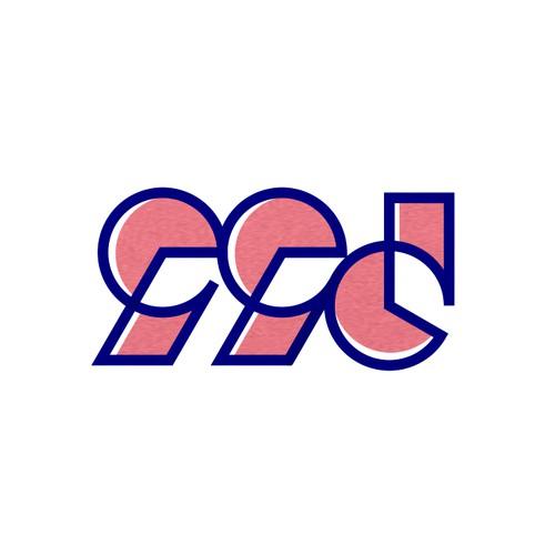 99d logo with bauhaus style