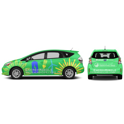 Prius Vehicle Wrap for EnergyMobile