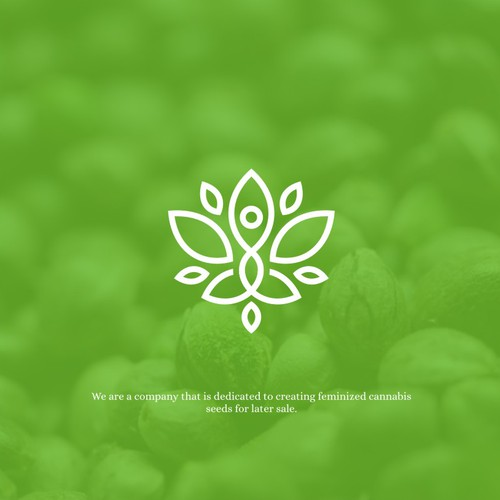 Modern line-work logo with yoga vibe for Kámala Seeds Bank