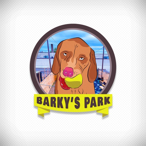 Logo for Whiskey distillery/ bar with a dog park