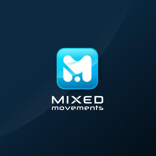 Monogram logo initial M.