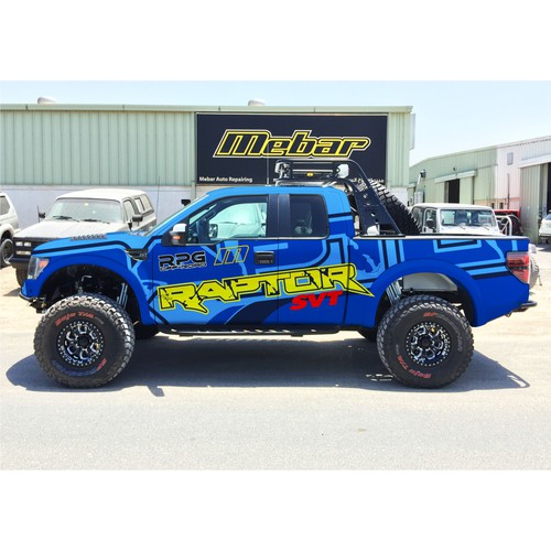 Design an awesome Car Wrap for a Ford Raptor