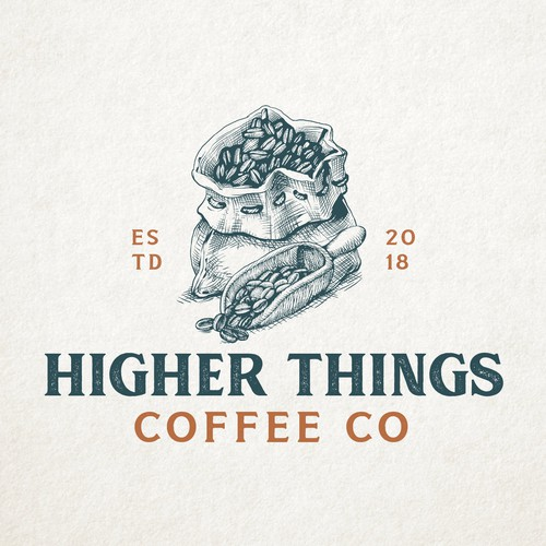 A Friendly and Humble Logo for a Premium Coffee Company