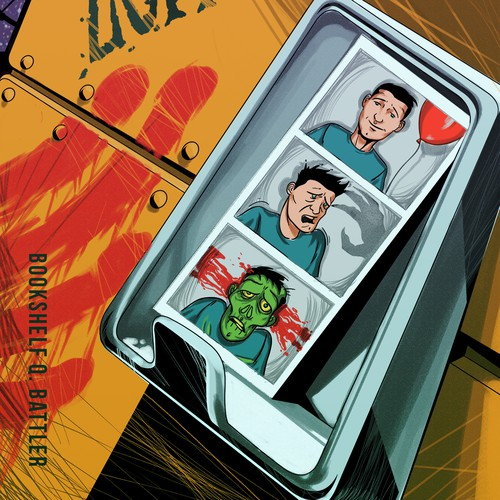 Horro/comedy book cover design