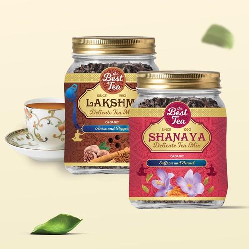 Indian tea packaging design.