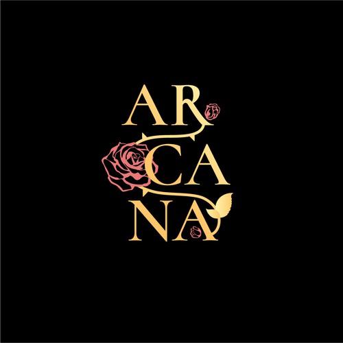 Mysterious feminine logo for a pop singer