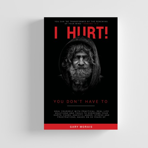 "Design Entry for ""I Hurt"" Book Cover Design"