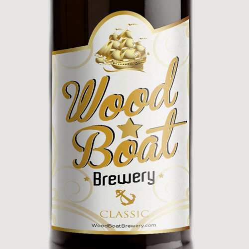 Beer Packaging Design for Wood*Boat Brewing Company.