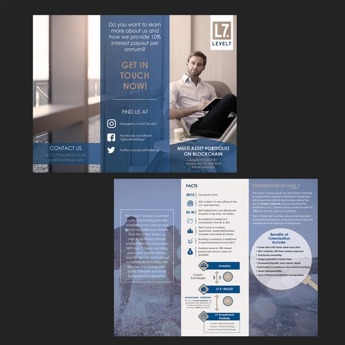 brochure for LEVEL7 company