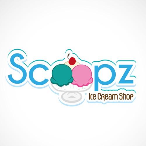 Logo concept for ice cream shop