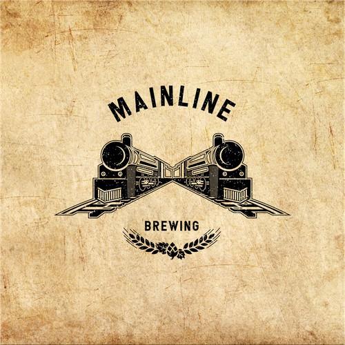 Logo Concept For Mainline Brewing