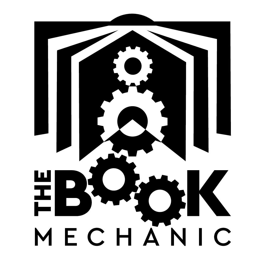 Create a classic mechanical logo to help authors run their book business like a machine.