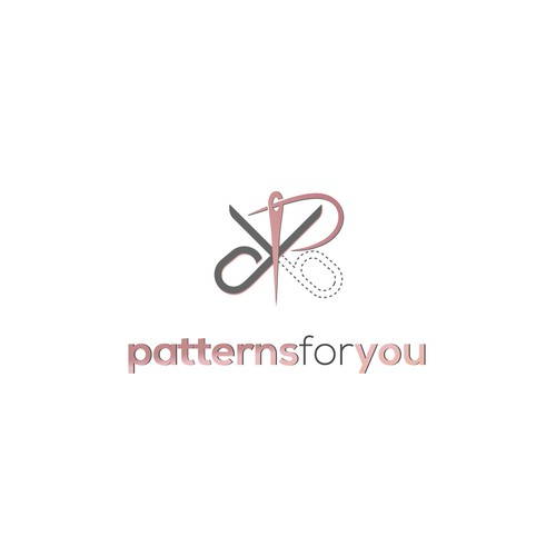 Logo for a website that print and sell sewing patterns