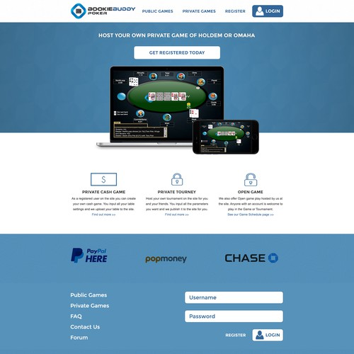 Light Blue Game Landing Page