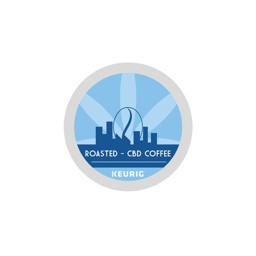 Proposal for Roasted-CBD Coffee Logo for K-Cups