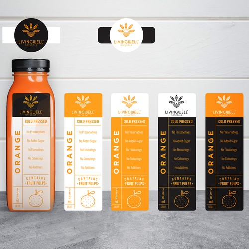 Label design for cold-pressed juice