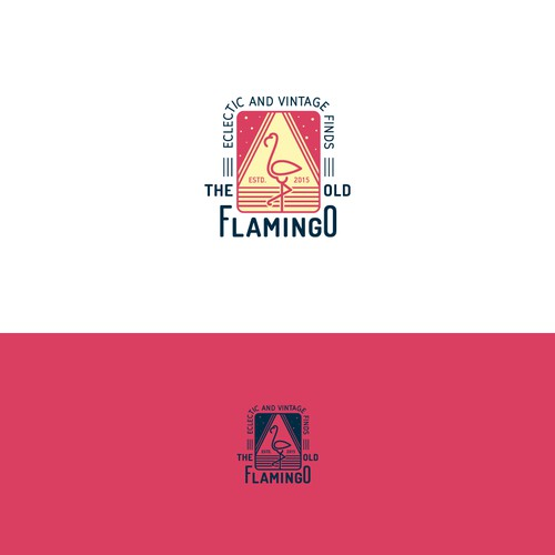 Logo concept for Old Flamingo