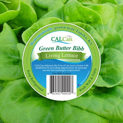 Lettuce package sticker