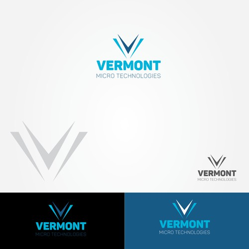 abstract word mark for a tech. company