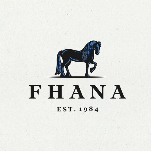Logo for Fhana Friesian Horse Association