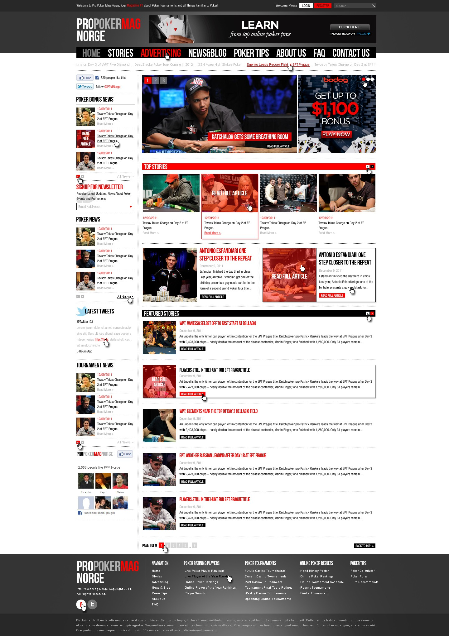 New website design wanted for Pro Poker Mag Norge