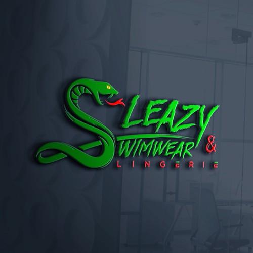 """Modern snake design for online lingerie retail store """"Sleazy Swimwear & Lingerie"""""""