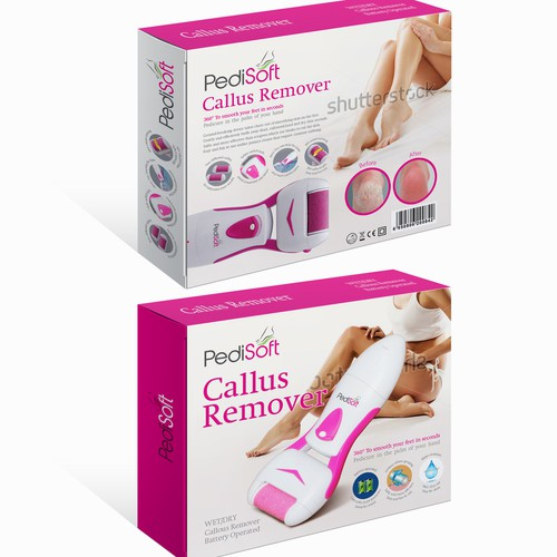 Create an attractive packaging design for an Electric Pedicure/Callus Remover
