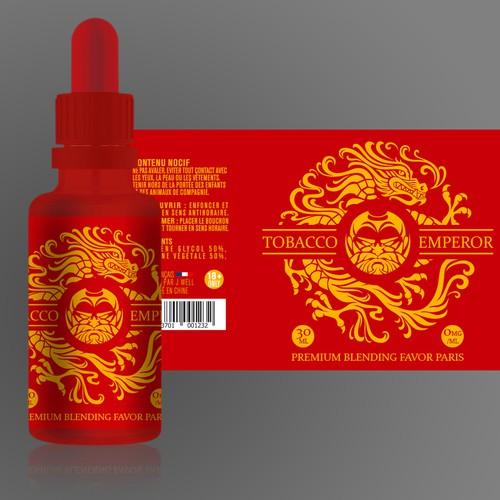 Sticker design for Tobacco Emperor By JWELL -  ELIQUID Bottle