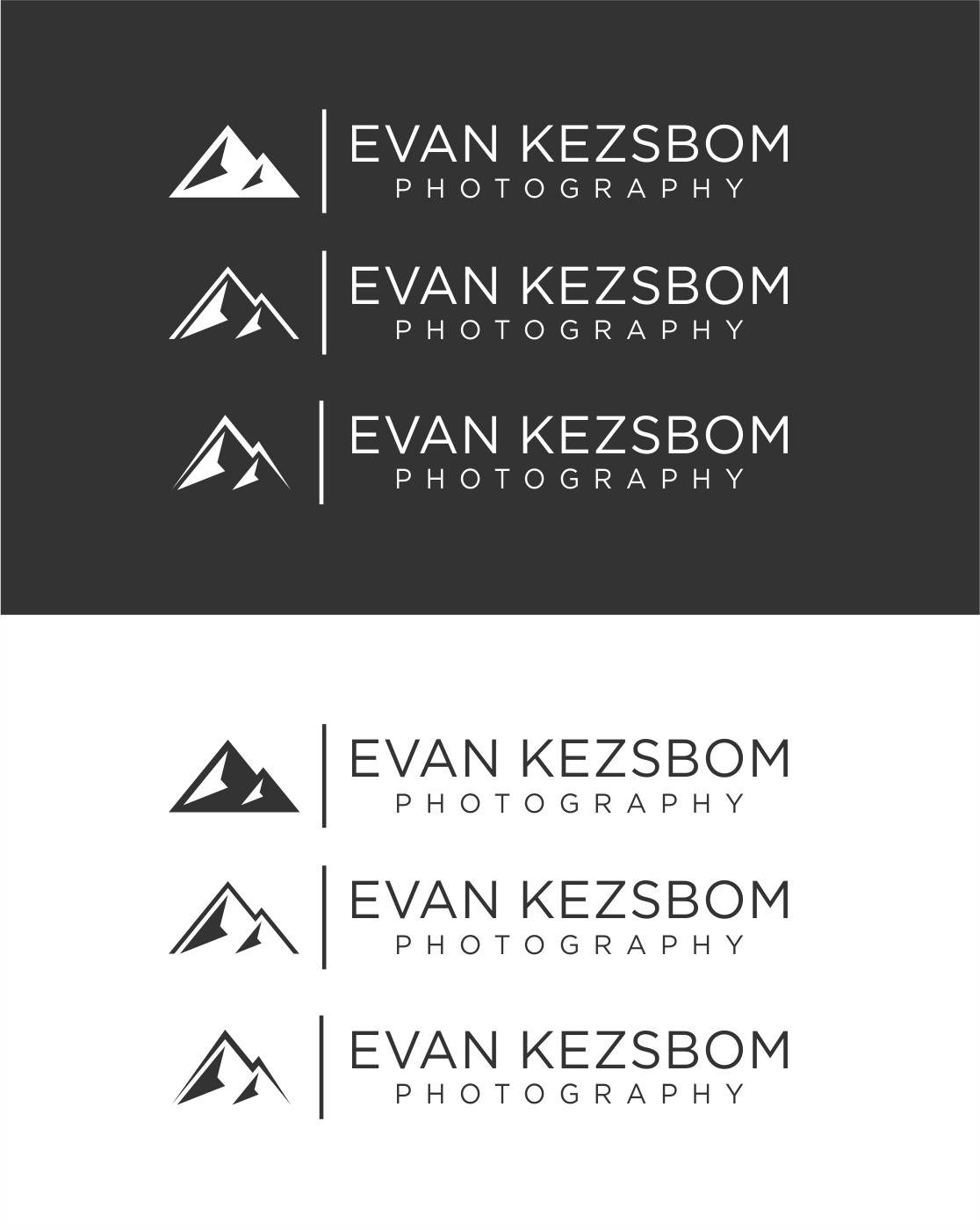 Design a clean, contemporary logo for a photographer based in a mountain town community