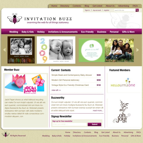 Trendy InvitationBuzz.com – fresh, classy & organized