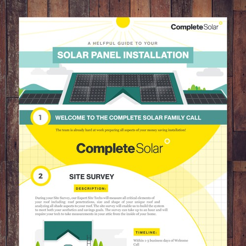 Infographic concept for Complete Solar