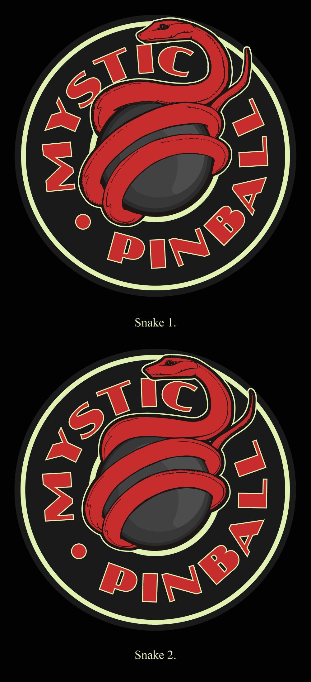 Design a logo for a retro pinball lounge