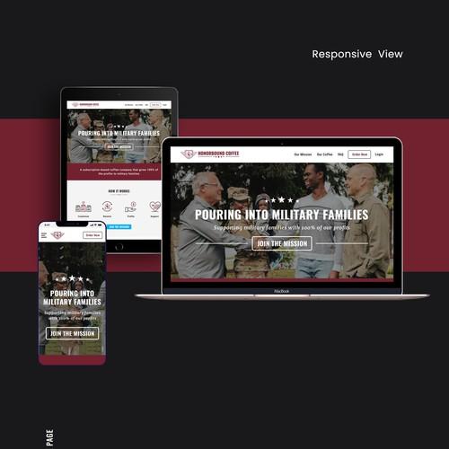 Honor Bound Coffee Website