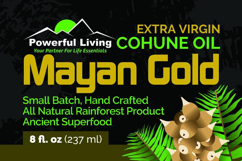 Cohune Oil Label Design