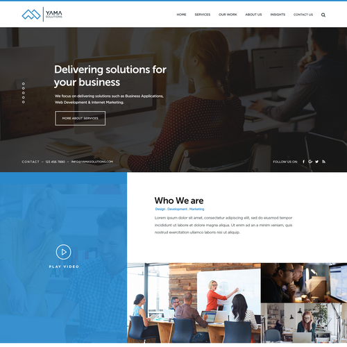 website design for web consulting startup