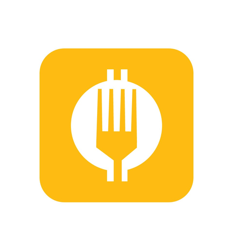 food delivery service based on cryptocurrency needs a futuristic and descriptive logo