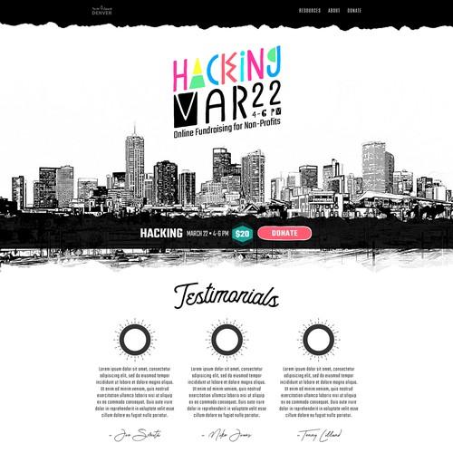 Retro Event Landing Page
