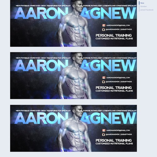 Facebook Cover Design for a Personal Trainer