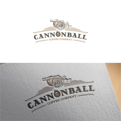 logo for coffee company CANNONBALL