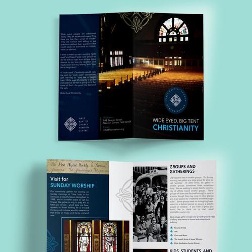 Brochure design for Church