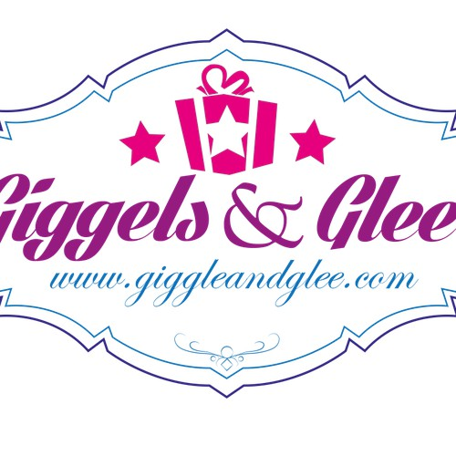 Create a playful gift company brand for Giggles & Glee