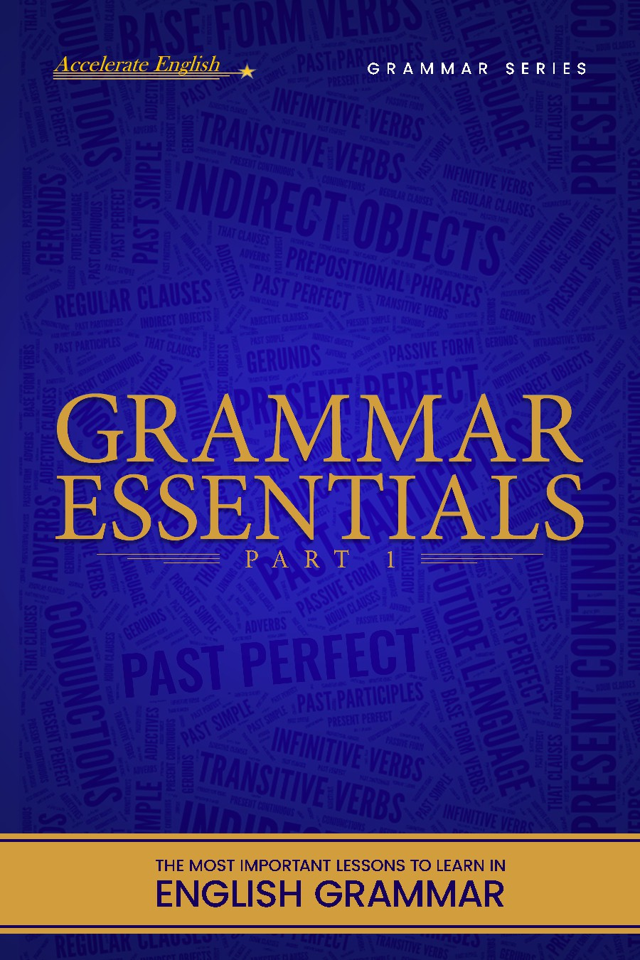 An E-book cover for a new series of English Textbooks