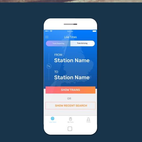App Design Concept for Train Timing
