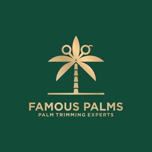 Palm Cutting Logo